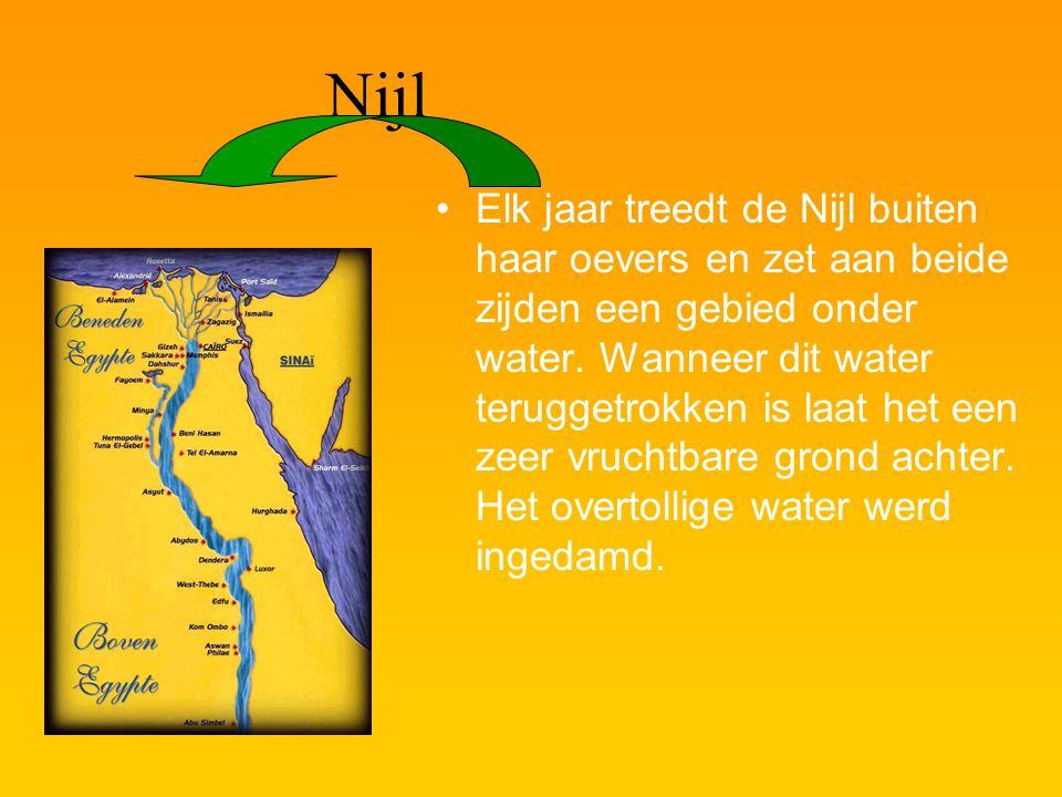 Egypte Egypte ligt van boven in Afrika. De Nijl stroomt door het hele land. Het land ontstond rond het jaar3300v.C.
