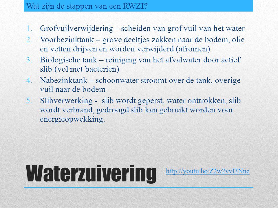 Waterzuivering Welke metingen worden op de zuivering gedaan.