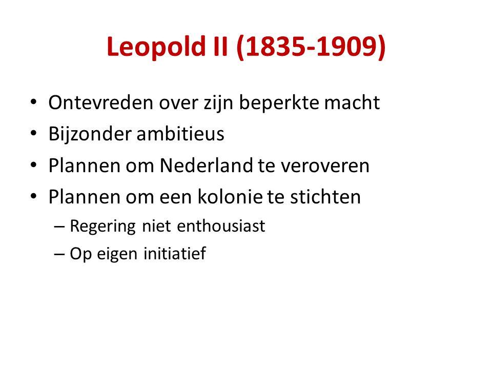 Ontevreden over zijn beperkte macht Bijzonder ambitieus Plannen om Nederland te veroveren Plannen om een kolonie te stichten – Regering niet enthousiast – Op eigen initiatief