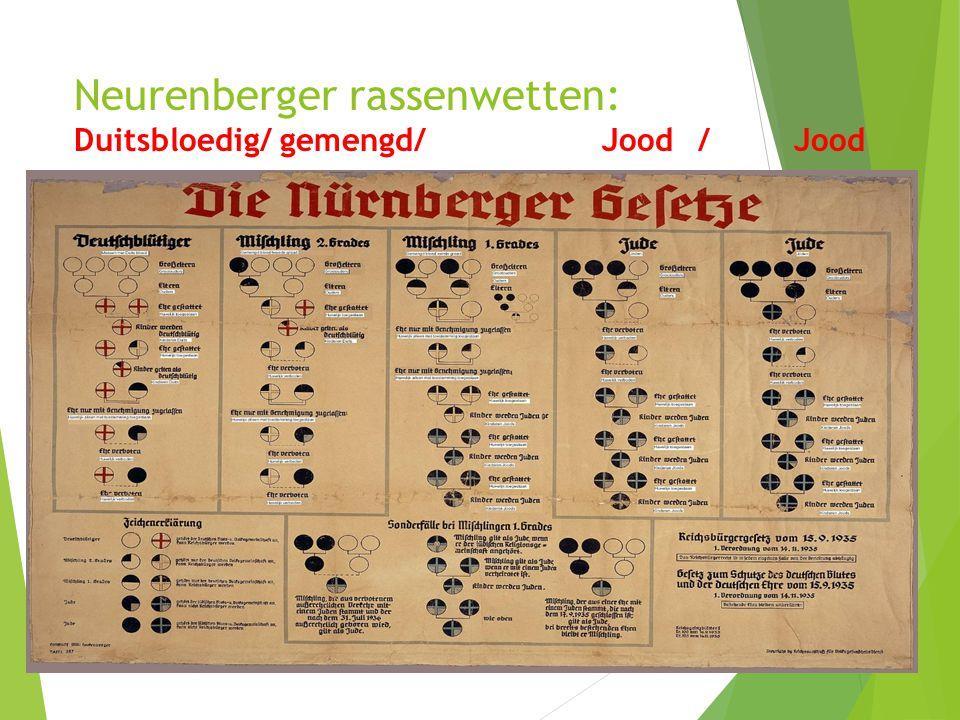 Neurenberger rassenwetten: Duitsbloedig/ gemengd/Jood/Jood 12