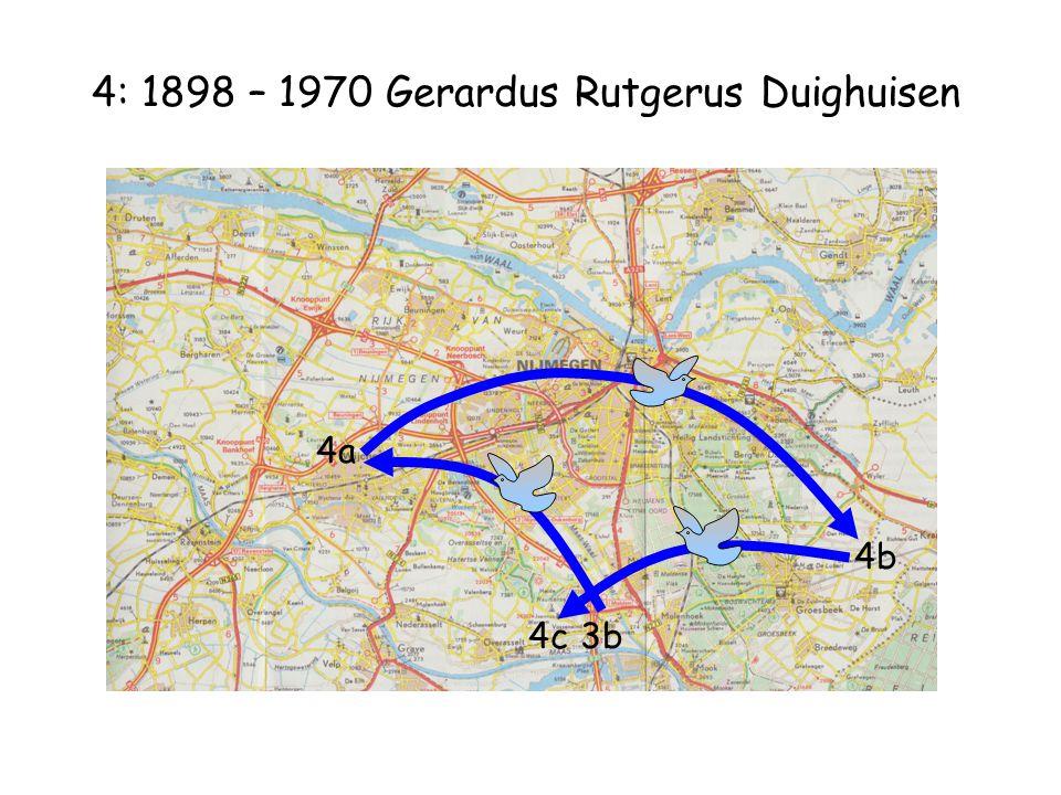 4: 1898 – 1970 Gerardus Rutgerus Duighuisen 4a 4c3b 4b
