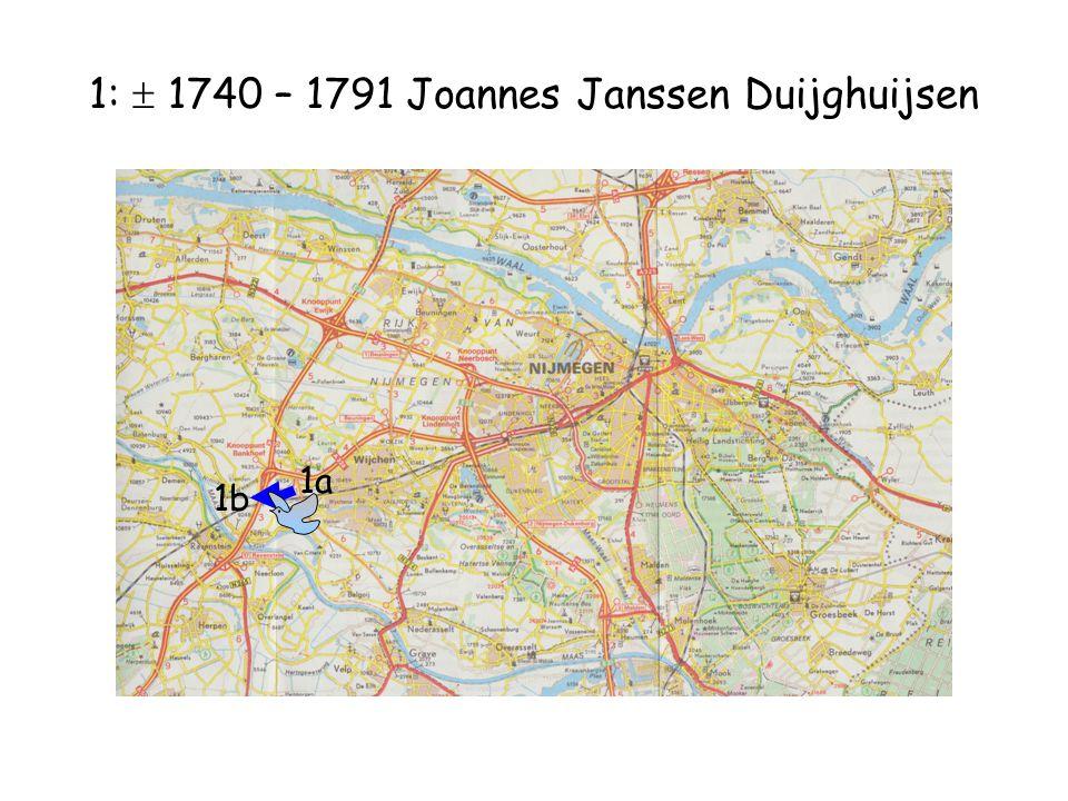 1:  1740 – 1791 Joannes Janssen Duijghuijsen 1b 1a