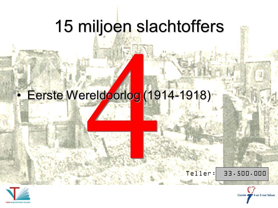 3 3 20 miljoen slachtoffers Het bewind van Josef Stalin (1922-1953)Het bewind van Josef Stalin (1922-1953) Teller: 53.500.000