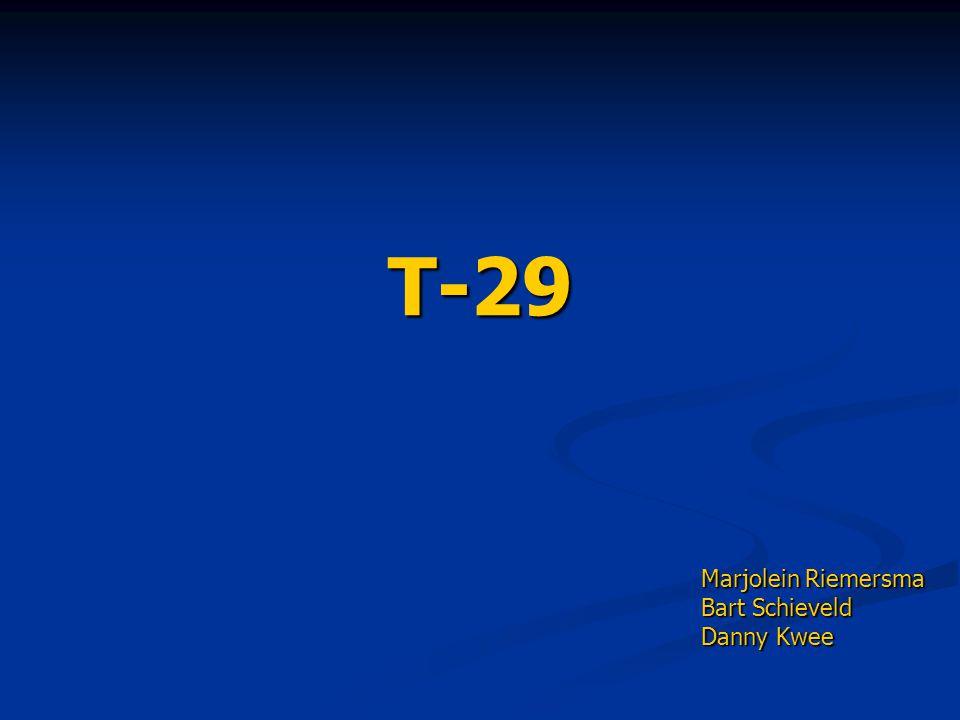 T-29 Marjolein Riemersma Bart Schieveld Danny Kwee