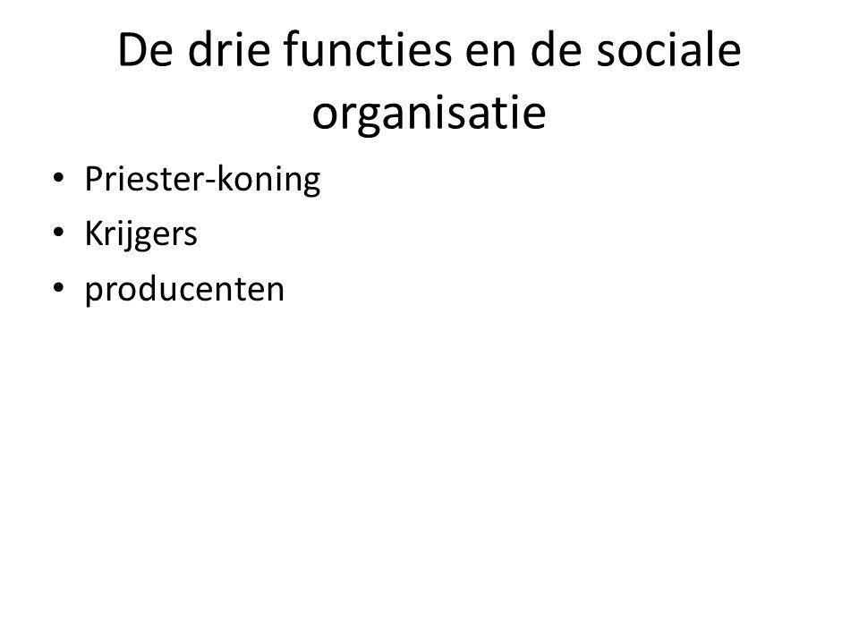 De drie functies en de sociale organisatie Priester-koning Krijgers producenten