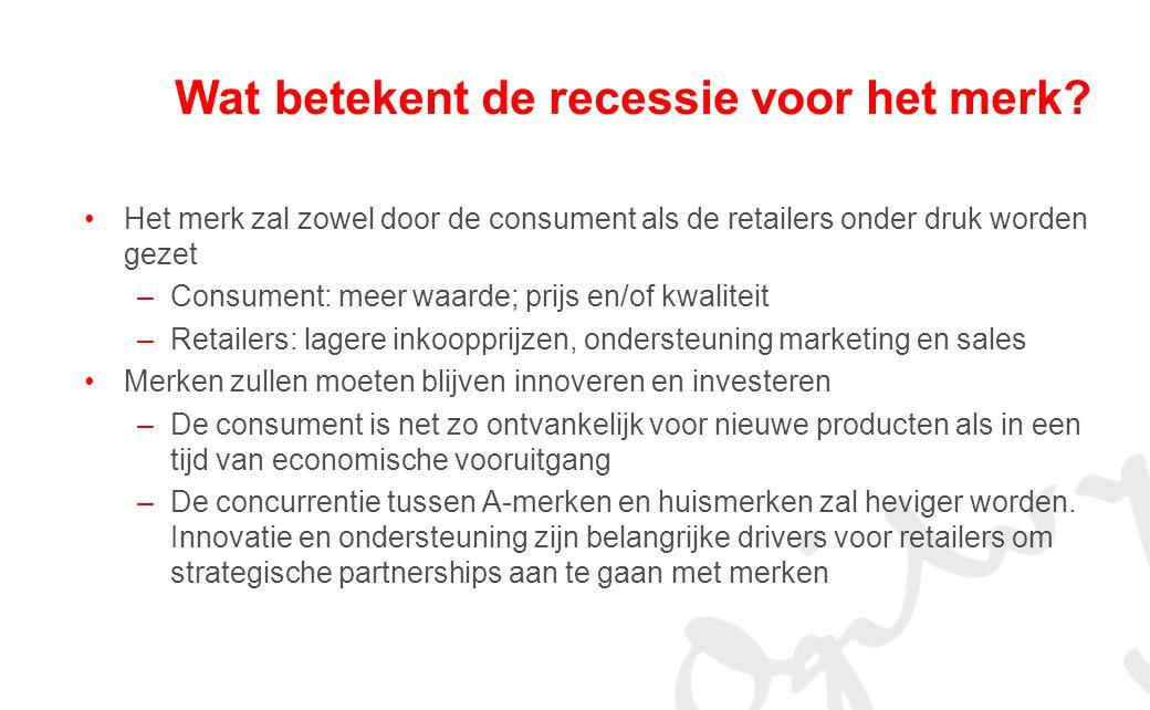 Wat betekent de recessie voor het merk.