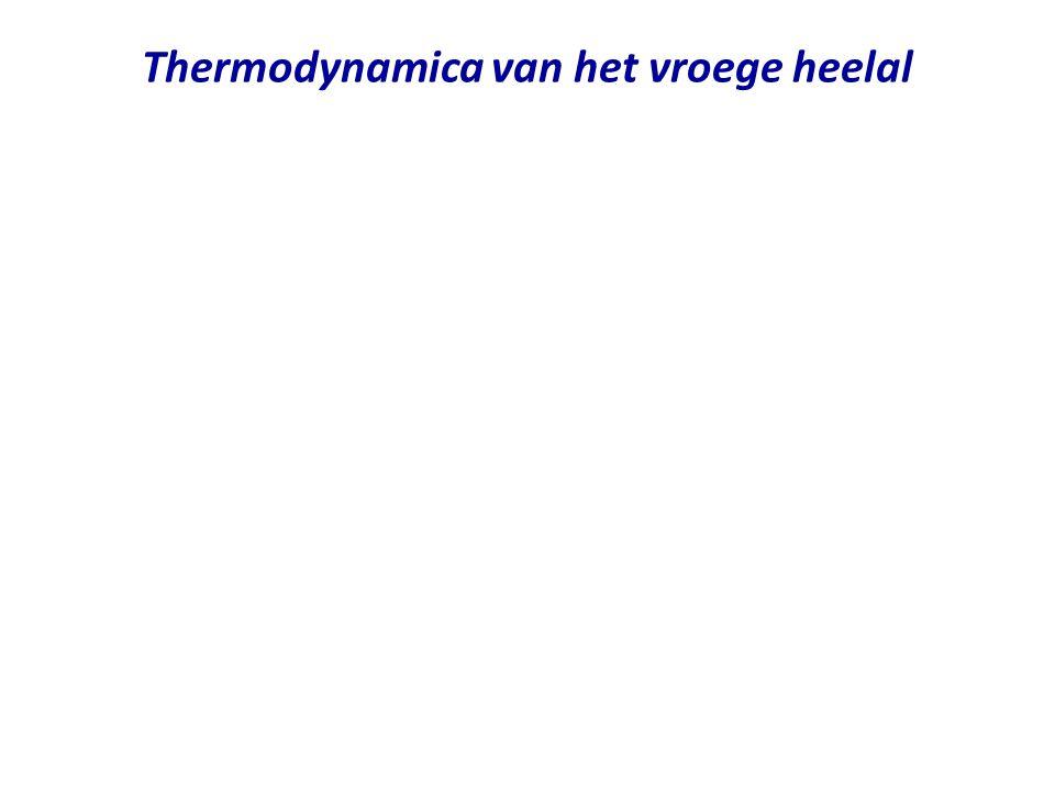 Thermodynamica van het vroege heelal