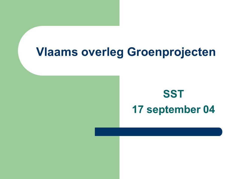 SST: overleg groen: 23-4- 04 2 Doelstellingen en opdrachten 1.