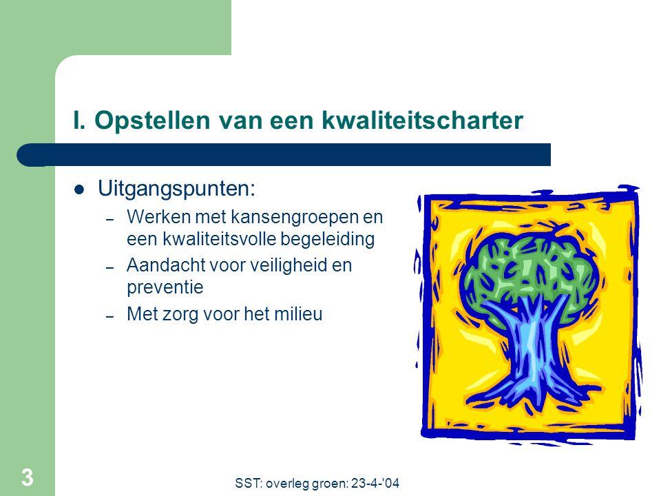 SST: overleg groen: 23-4- 04 3 I.