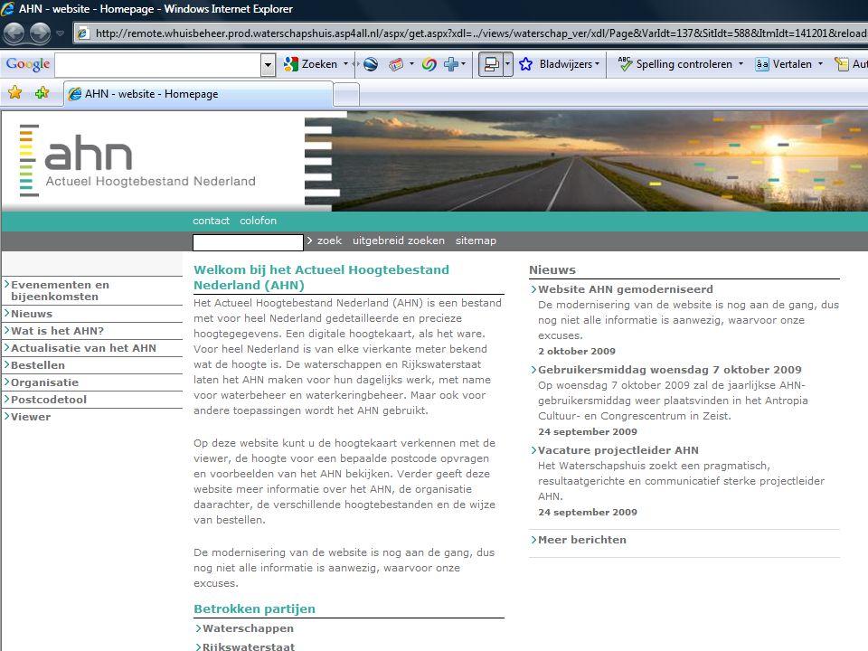 AHN gebruikersbijeenkomst 7 oktober 2009 10