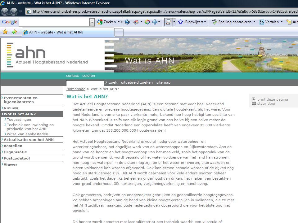AHN gebruikersbijeenkomst 7 oktober 2009 11