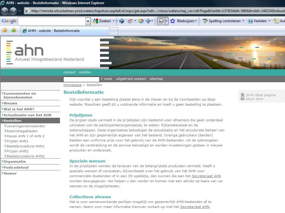 AHN gebruikersbijeenkomst 7 oktober 2009 12
