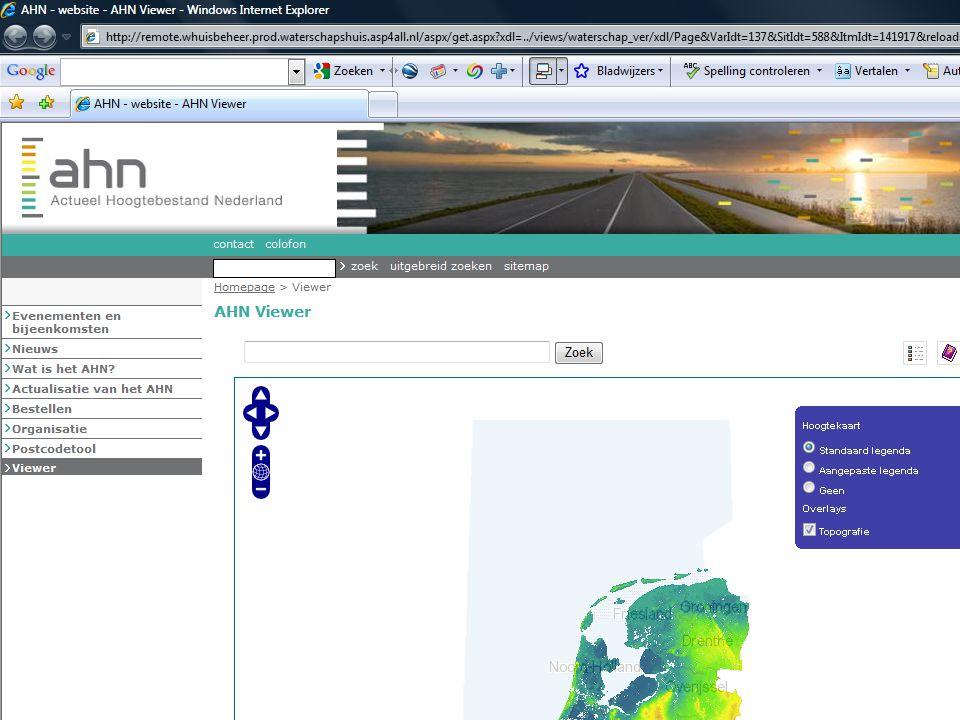 AHN gebruikersbijeenkomst 7 oktober 2009 14