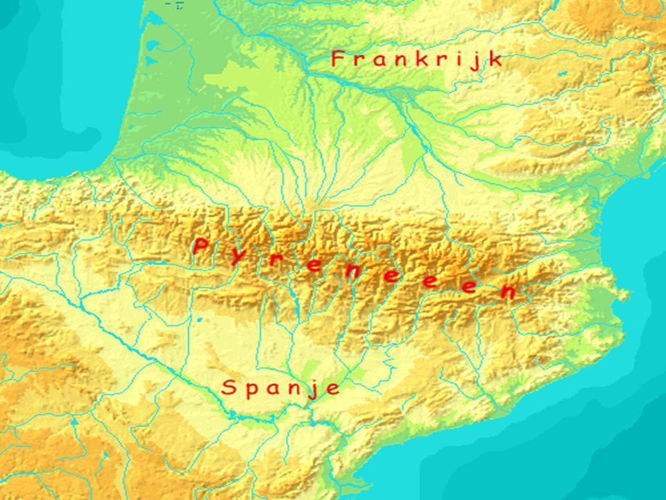Afbeelding kaart pyreneeen