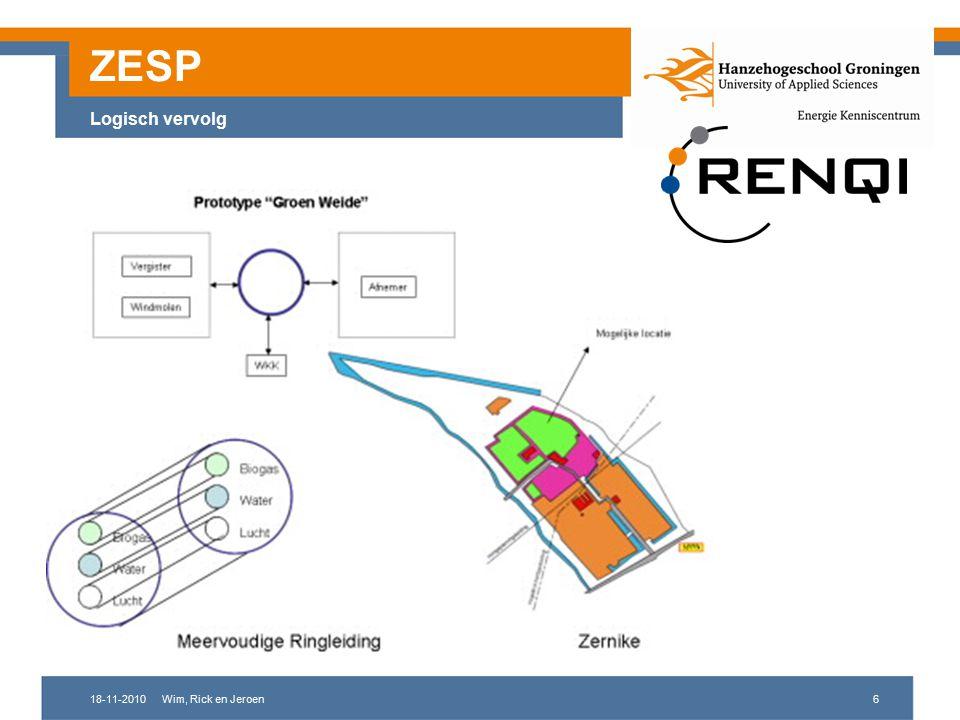18-11-2010Wim, Rick en Jeroen7 ZESP Ambitie Ambitie: Global reach - local touch