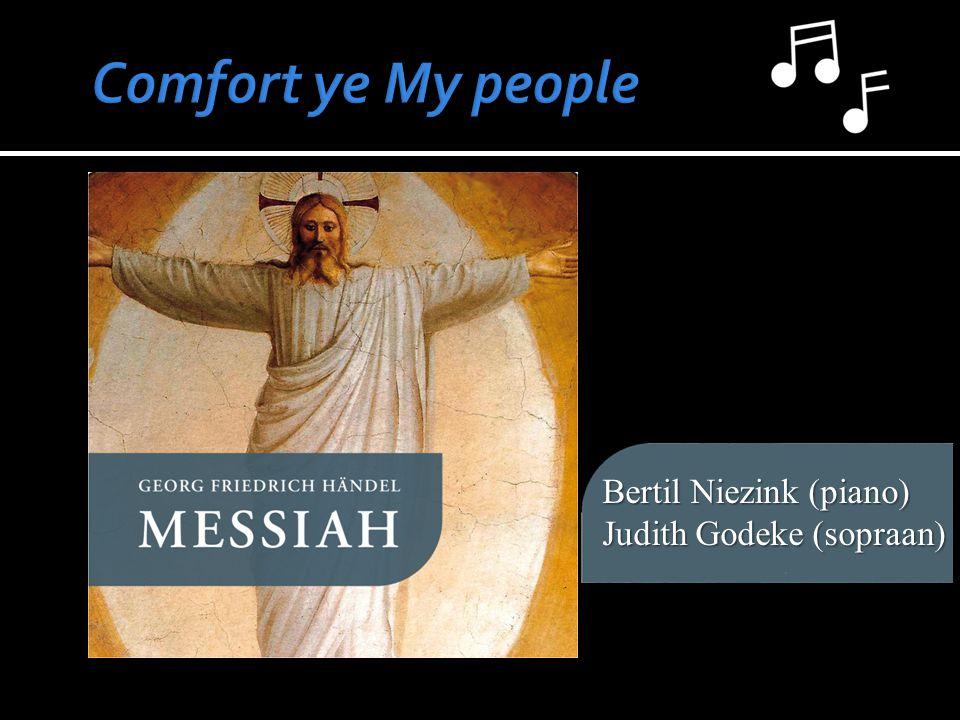 Bertil Niezink (piano) Judith Godeke (sopraan)