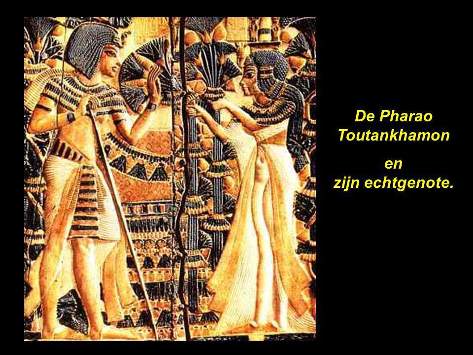 De Pharao Toutankhamon en zijn echtgenote.