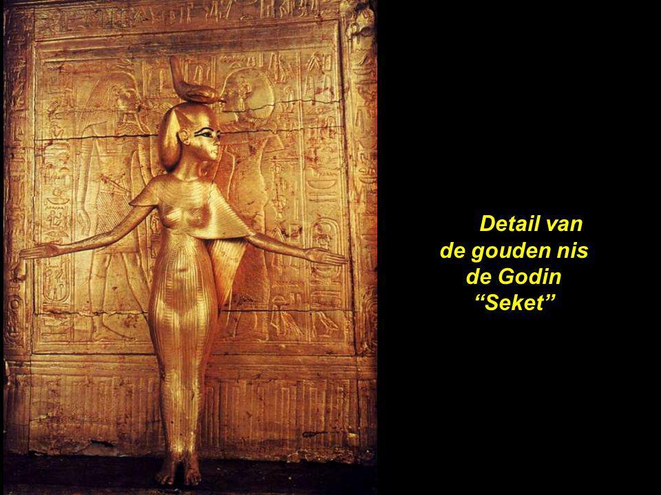 Detail van de gouden nis de Godin Seket
