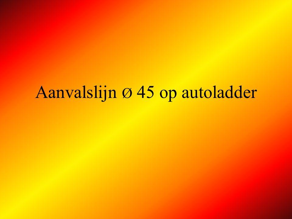 Tweede lijn Ø 45 AP A AFLEG fase 2 controleert lijn en neemt positie bij de lans aan B !
