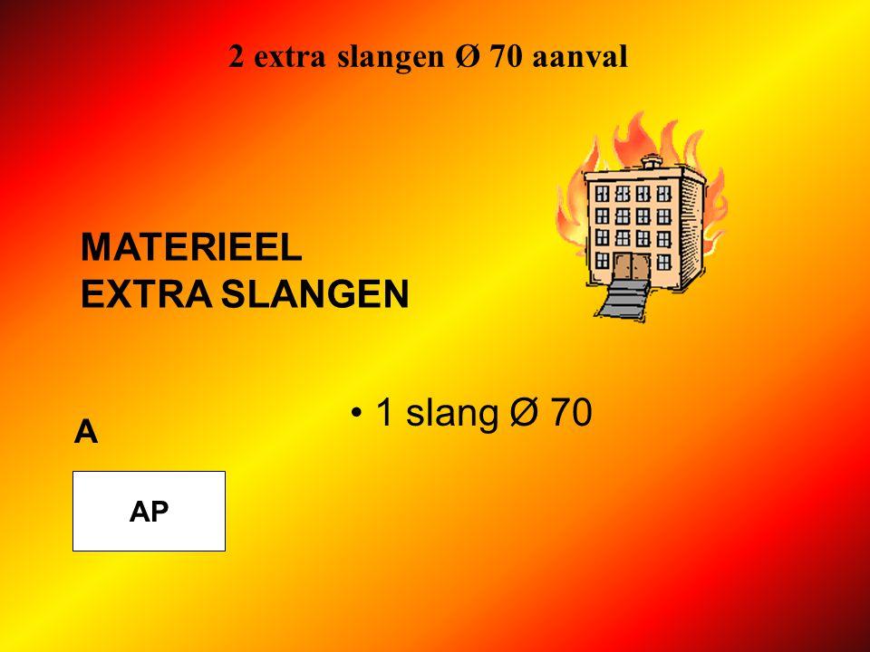 2 extra slangen Ø 70 aanval AP