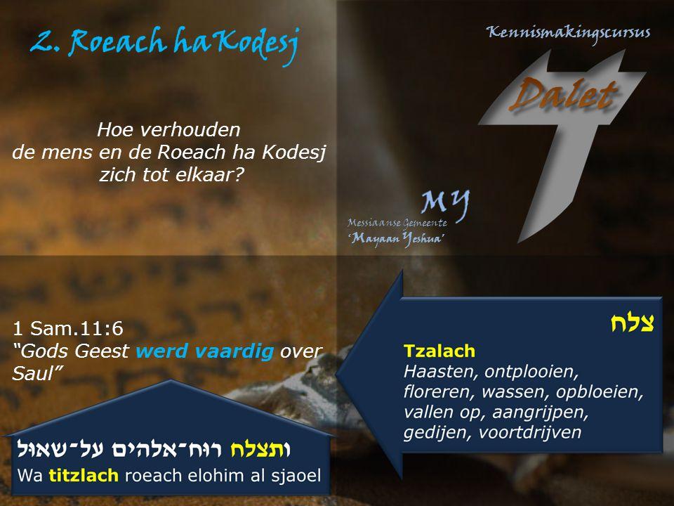 """1 Sam.11:6 """"Gods Geest werd vaardig over Saul"""" Hoe verhouden de mens en de Roeach ha Kodesj zich tot elkaar?"""