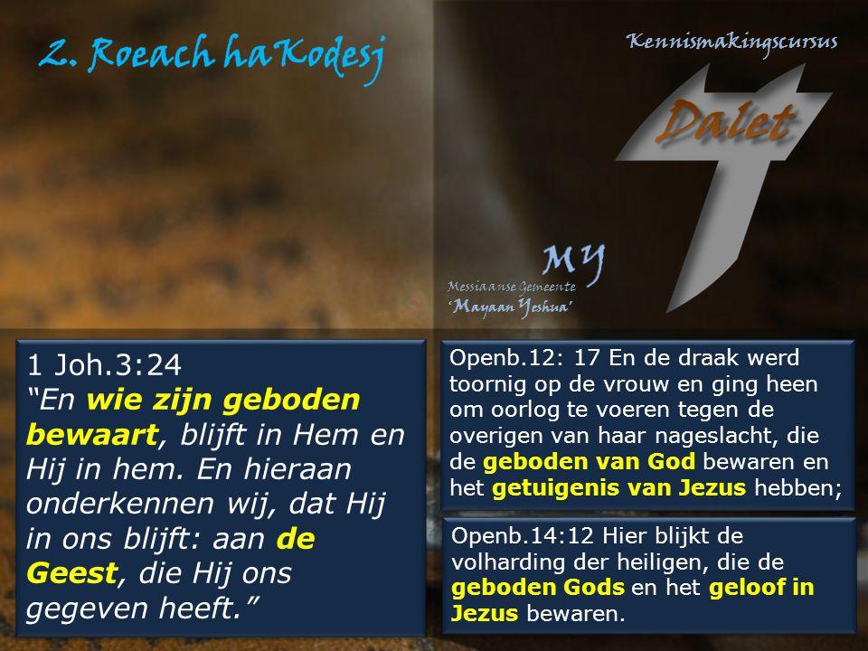 """1 Joh.3:24 """"En wie zijn geboden bewaart, blijft in Hem en Hij in hem. En hieraan onderkennen wij, dat Hij in ons blijft: aan de Geest, die Hij ons geg"""
