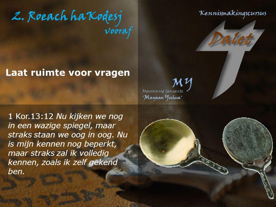 Psalm 139:7 Waarheen zou ik gaan voor uw Geest (roechècha), waarheen vlieden voor uw aangezicht (panècha).