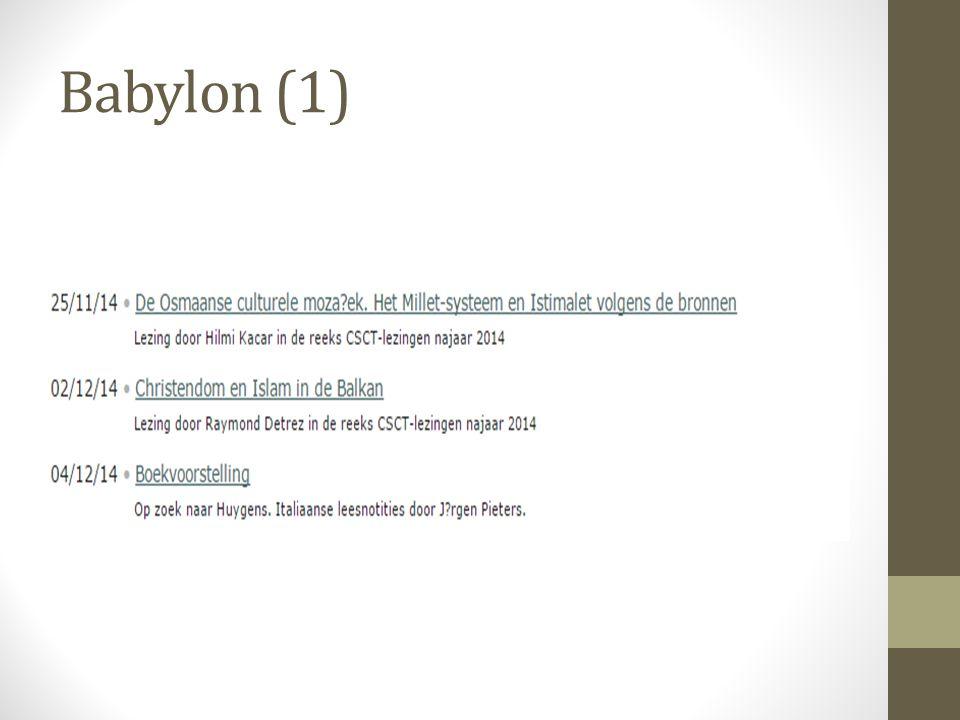 Babylon (1)