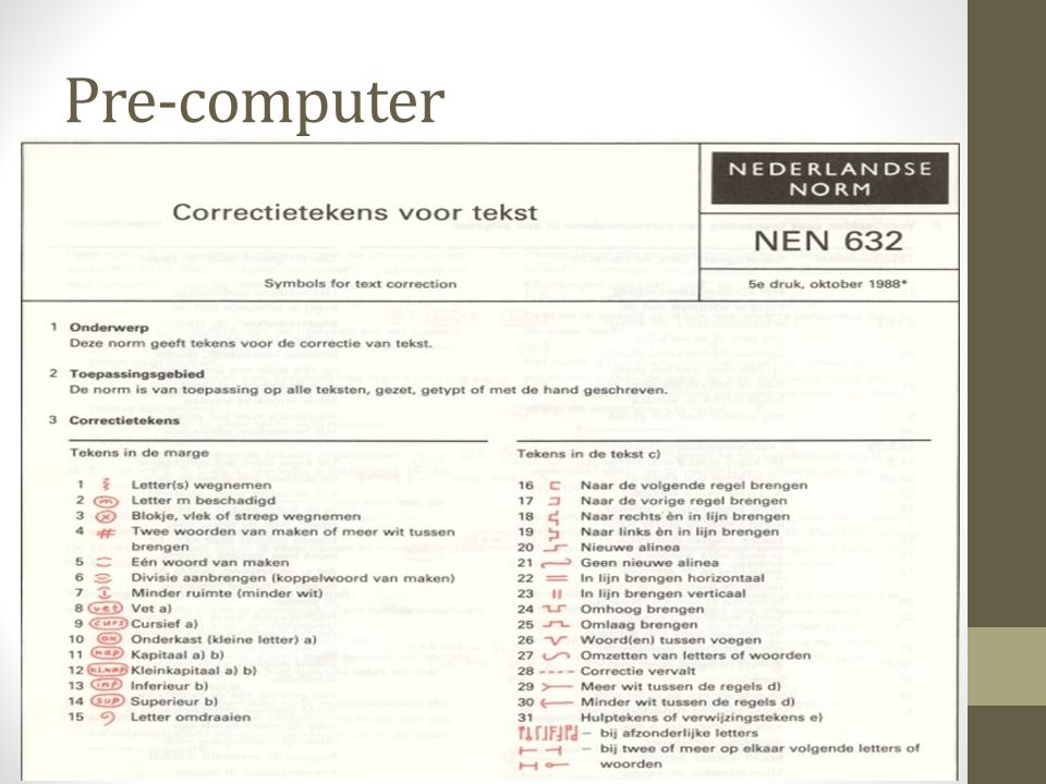 Pre-computer