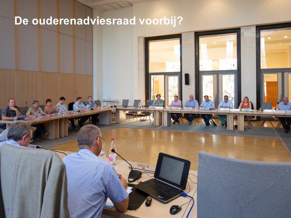 VVSG - De ouderenadviesraad voorbij 15 -