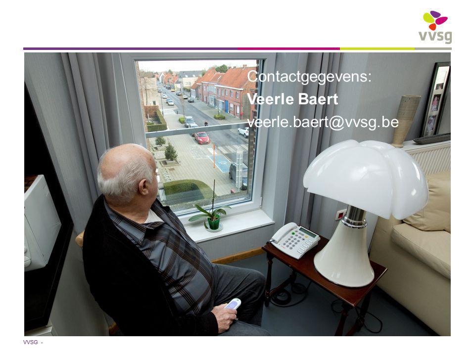 VVSG - Contactgegevens: Veerle Baert veerle.baert@vvsg.be