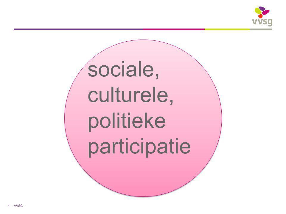 VVSG - 4 - sociale, culturele, politieke participatie