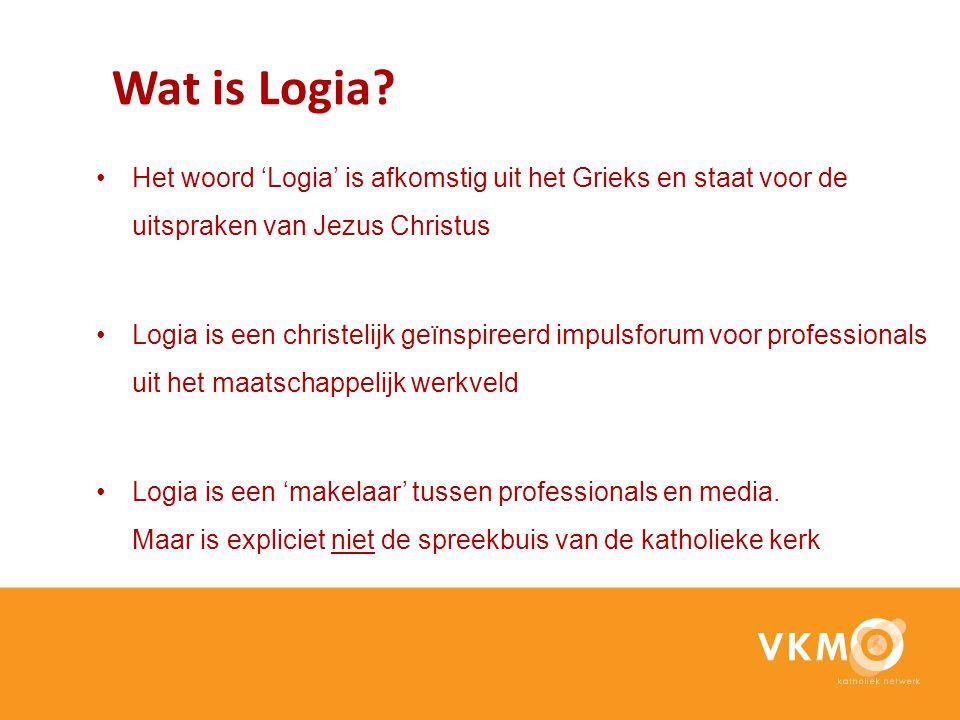 Wat is Logia? Het woord 'Logia' is afkomstig uit het Grieks en staat voor de uitspraken van Jezus Christus Logia is een christelijk geïnspireerd impul