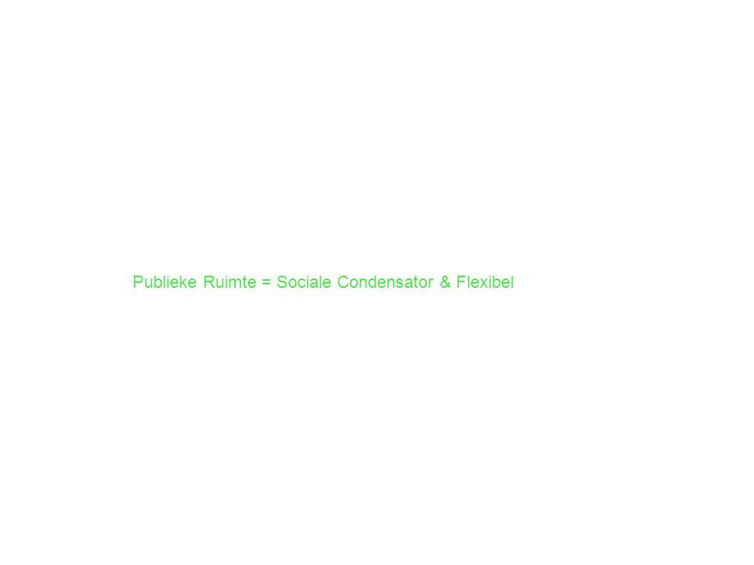 Publieke Ruimte = Sociale Condensator & Flexibel