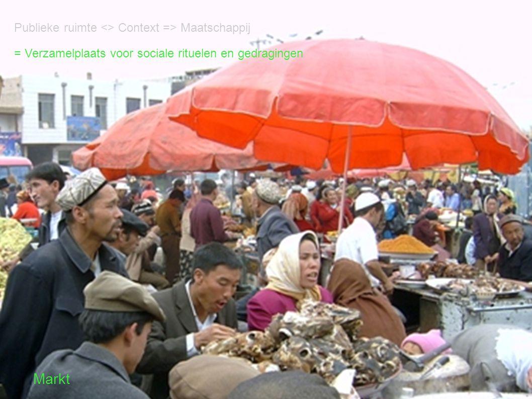 = Verzamelplaats voor sociale rituelen en gedragingen Markt