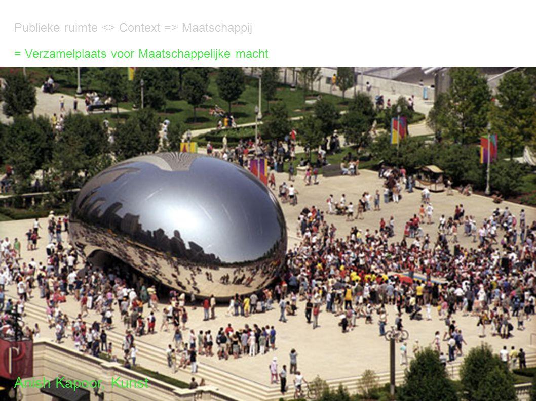 Publieke ruimte <> Context => Maatschappij = Verzamelplaats voor Maatschappelijke macht Anish Kapoor, Kunst