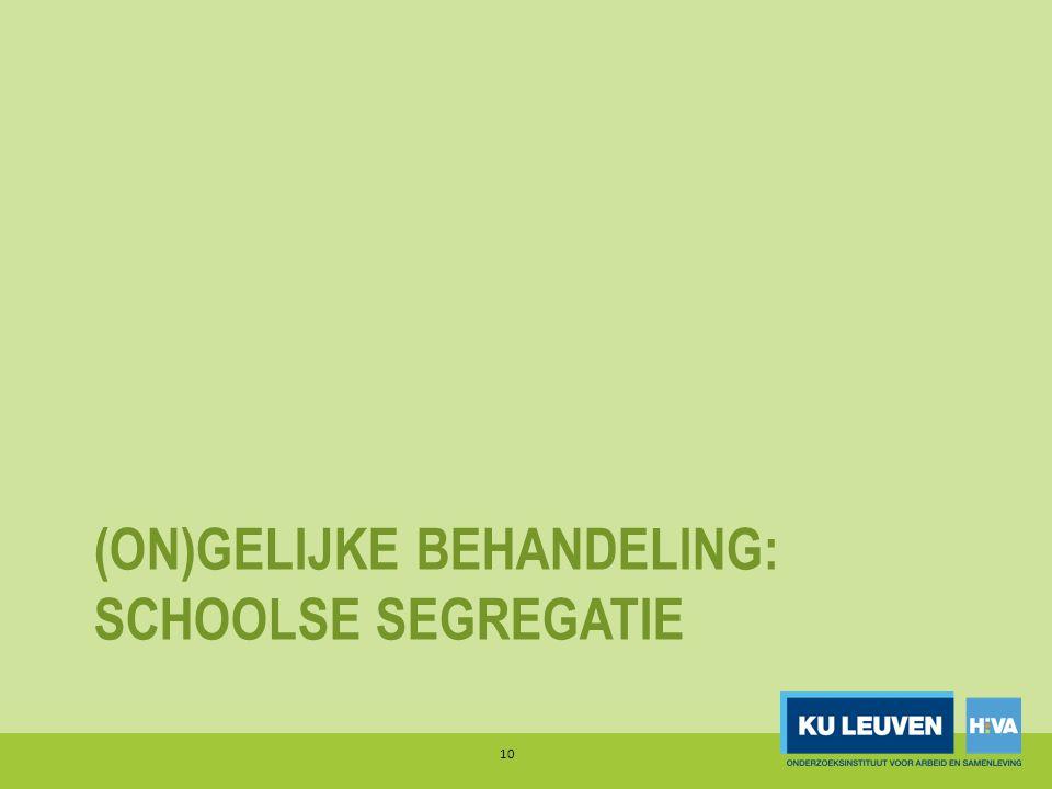 (ON)GELIJKE BEHANDELING: SCHOOLSE SEGREGATIE 10