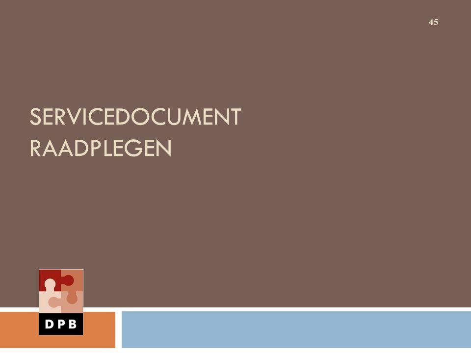 SERVICEDOCUMENT RAADPLEGEN 45