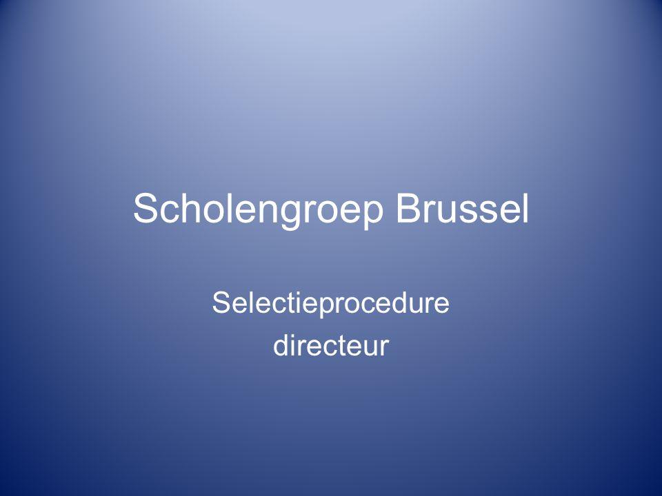 Scholengroep Brussel Selectieprocedure directeur