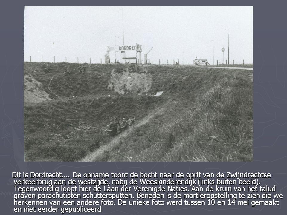 Dit is Dordrecht.... De opname toont de bocht naar de oprit van de Zwijndrechtse verkeerbrug aan de westzijde, nabij de Weeskinderendijk (links buiten