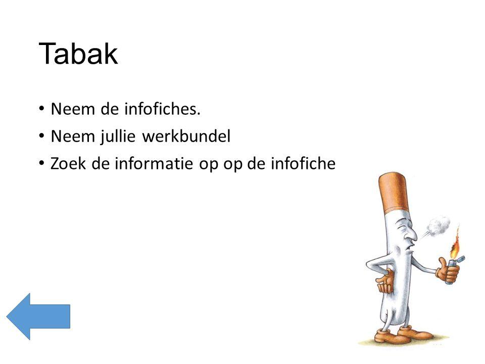 Waar komt tabak vandaan.Lees de infofiche in je groepje.