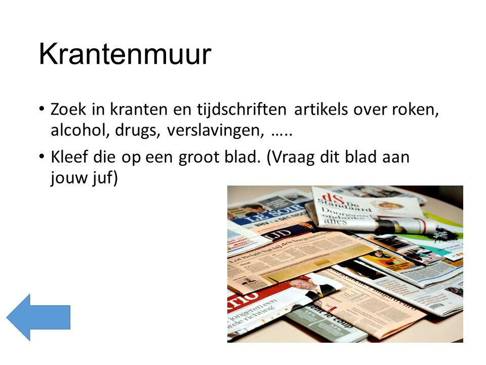 Roken - klokhuis Kijk naar deze link: http://www.schooltv.nl/video/het-klokhuis- tabak/#q=roken http://www.schooltv.nl/video/het-klokhuis- tabak/#q=roken