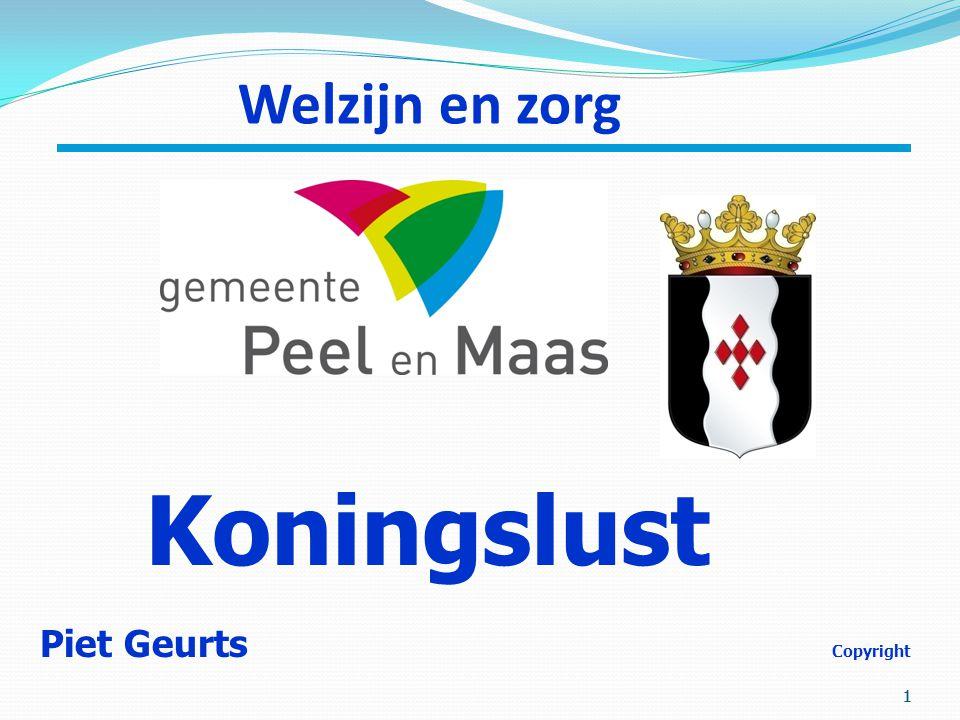 1 11 Welzijn en zorg Piet Geurts Copyright Koningslust