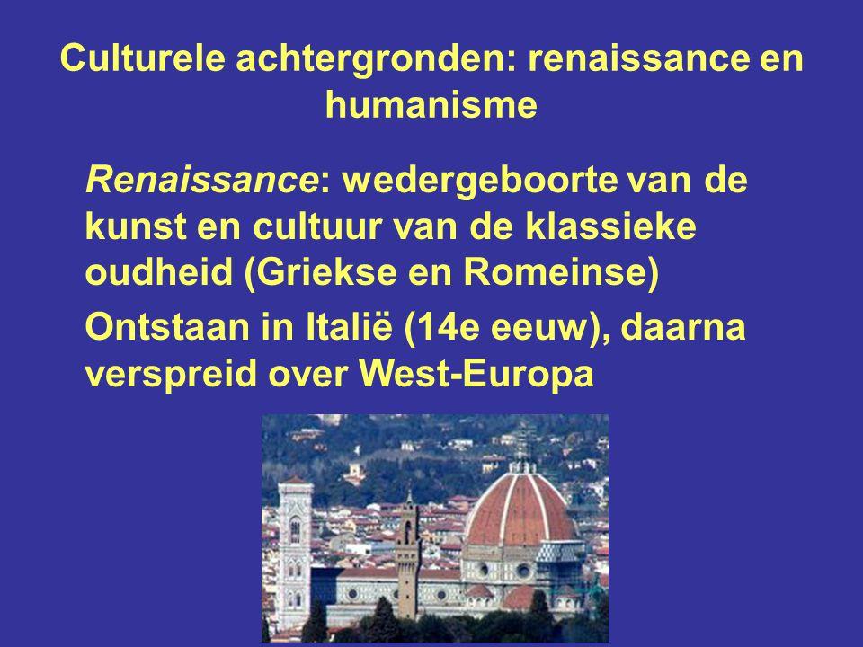 Gevolg: grote bloei van kunst en cultuur in de Republiek De zeventiende eeuw wordt wel genoemd: de Gouden Eeuw In de Hollandse steden werden veel grachtenpanden gebouwd