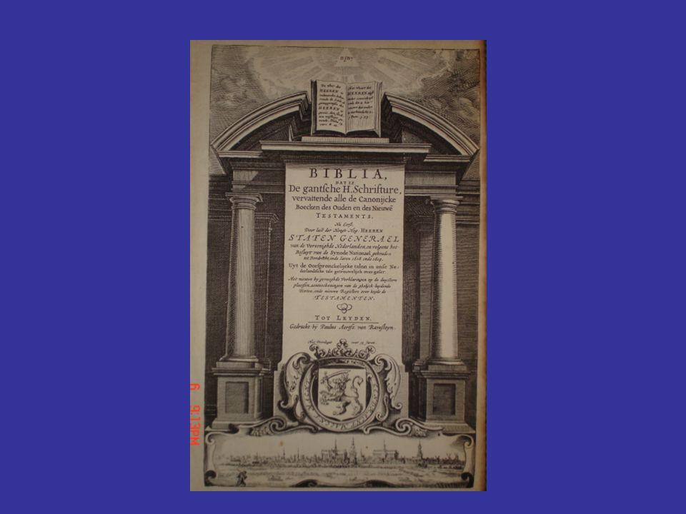 1637: Statenvertaling Het Nederlands: van verzameling dialecten naar standaardtaal