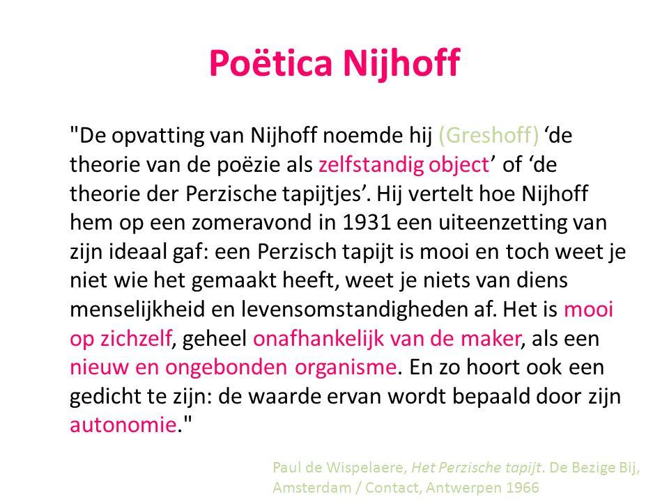 3. Nijhoffs poëzie