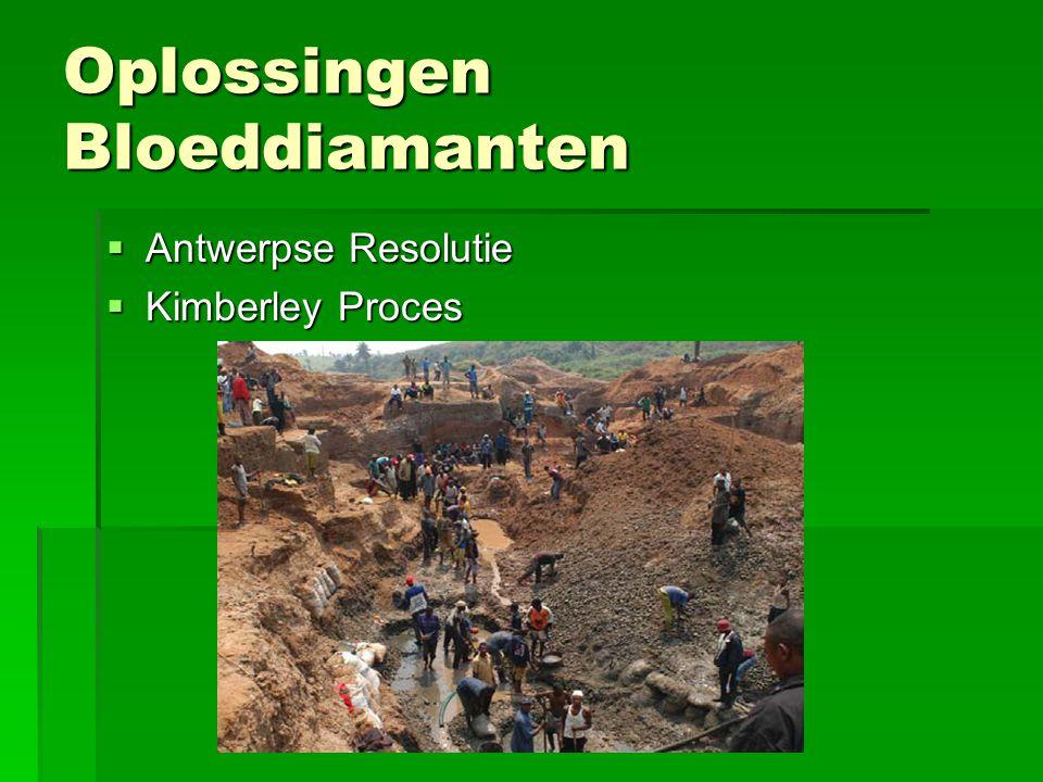 Oplossingen Bloeddiamanten  Antwerpse Resolutie  Kimberley Proces