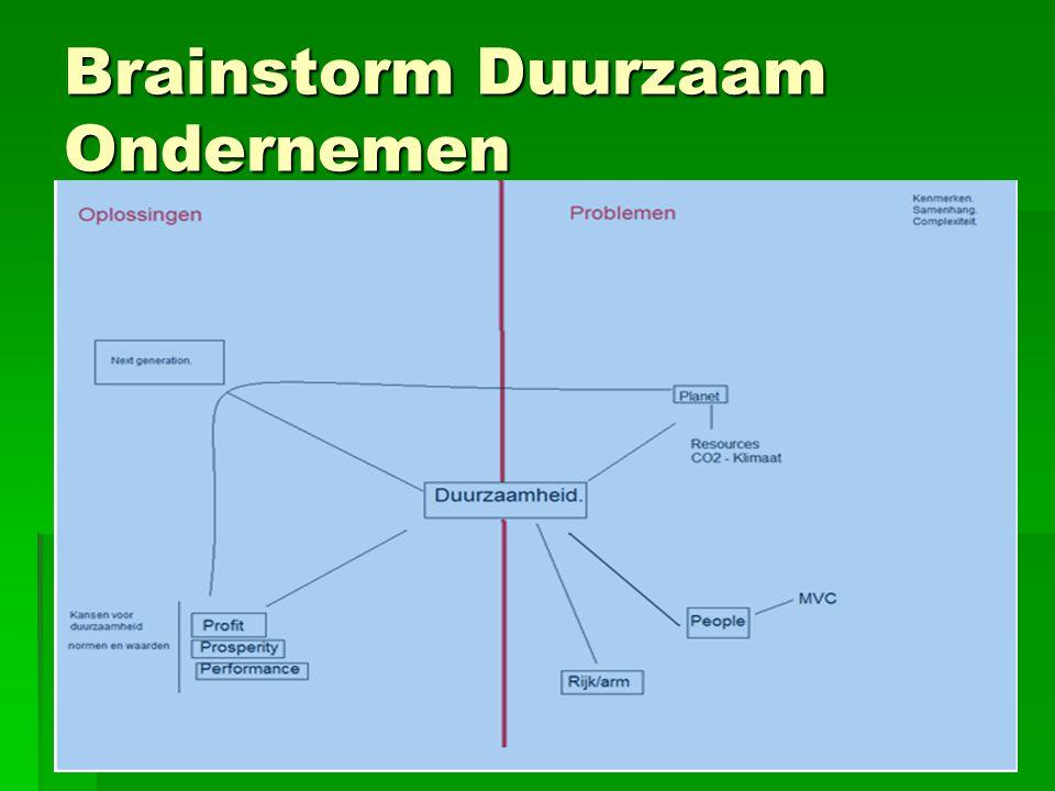Brainstorm Duurzaam Ondernemen