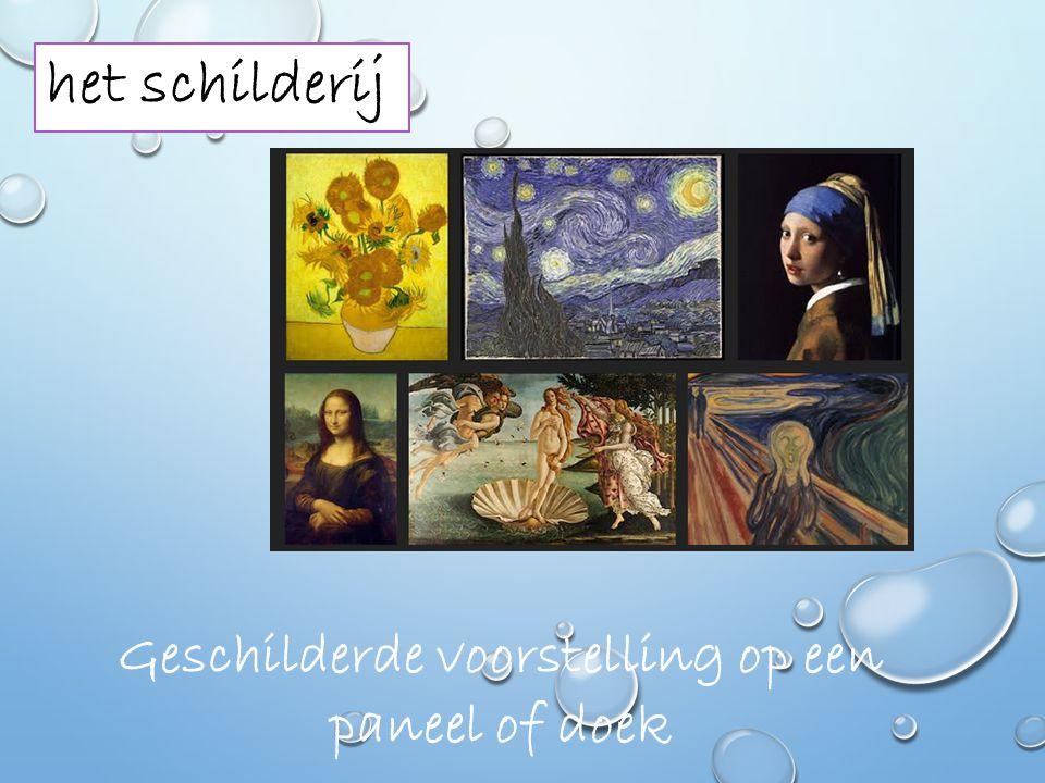 de schilder Een huisschilder of iemand die schilderijen maakt (kunstschilder).