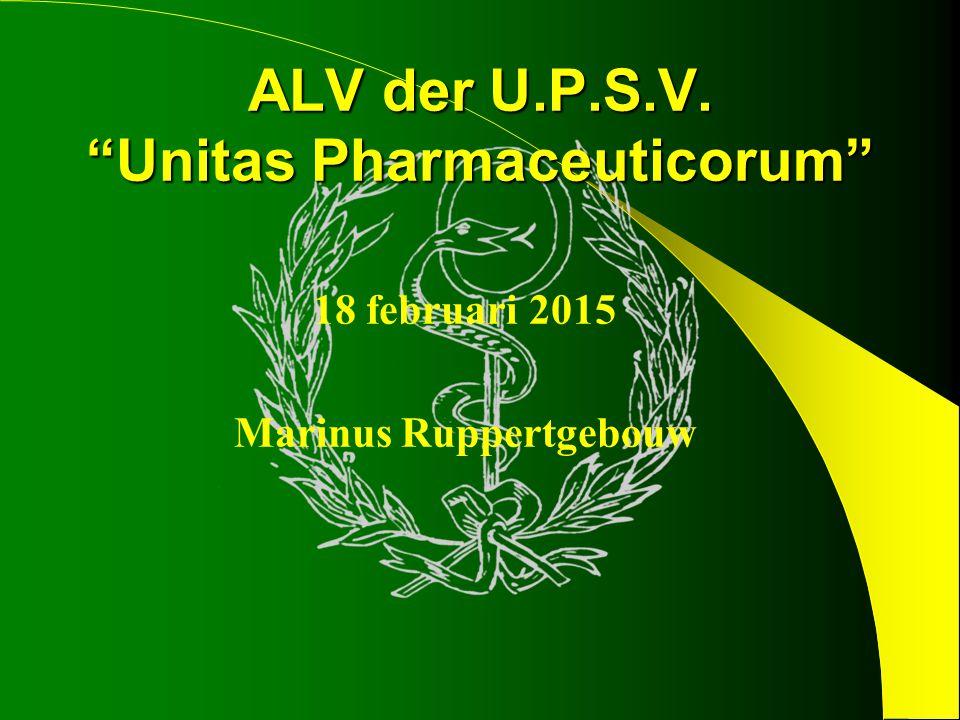 ALV der U.P.S.V. Unitas Pharmaceuticorum 18 februari 2015 Marinus Ruppertgebouw